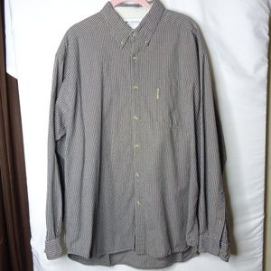 Columbia LS Brown Check Button Down Shirt XL